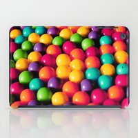 gumball iPad Cases featuring Rainbow Candy: Gumballs by WhimsyRomance&Fun