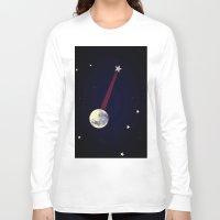 banjo Long Sleeve T-shirts featuring Moon Banjo by Mel Moongazer
