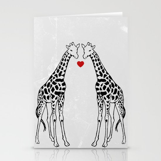 Giraffe Love Stationery Cards