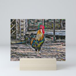 Bold Abstract Rooster Mini Art Print