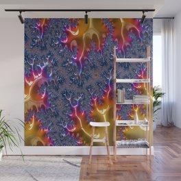 Flaming Blue Wall Mural