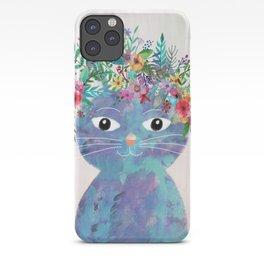 Flower cat II iPhone Case