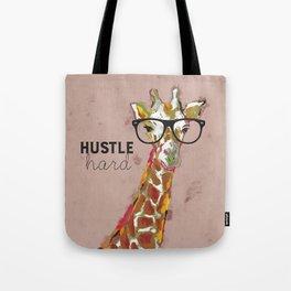 Hustle Hard Giraffe Tote Bag