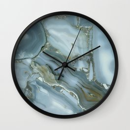Slate Blue Lace Agate Wall Clock
