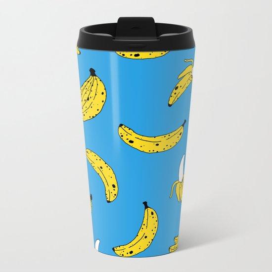 Banana Print Metal Travel Mug