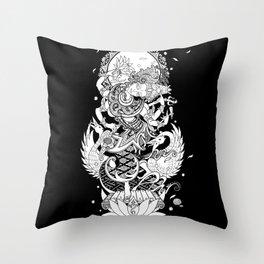 Balinese Saraswati Throw Pillow