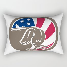 Republican Elephant Mascot USA Flag Rectangular Pillow