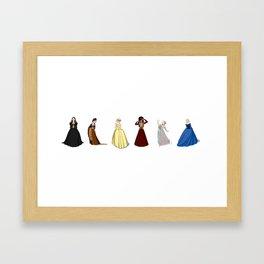 Henry VIII wifes fan-art , lined-up Framed Art Print