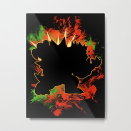 Super Smash Bros. Bowser Silhouette Metal Print