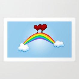 Love on rainbow Art Print