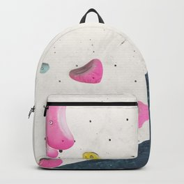Geometric abstract free climbing bouldering holds pink yellow Backpack