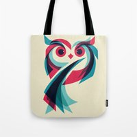 owl Tote Bags featuring Owl by Jay Fleck