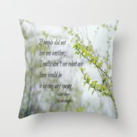 les miserables Throw Pillows featuring Les Miserables Love by KimberosePhotography