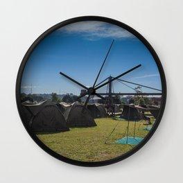 Glamping Camping Wall Clock