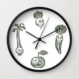 X-rays vegetables (white background) Wall Clock