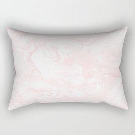 Pink Rose Gold Marble Print II Rectangular Pillow