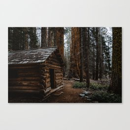 Log Cabin in the Giant Forest Canvas Print