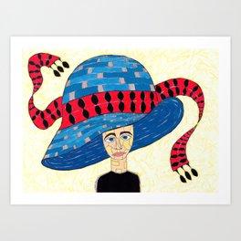 1930's English Hat Art Print