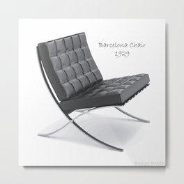 Barcelona Chair Metal Print
