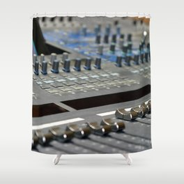 Mixing Console Shower Curtain