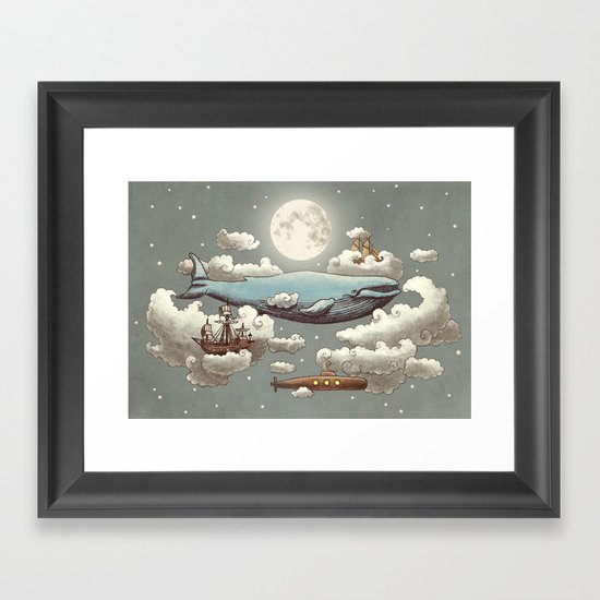 Ocean Meets Sky (original) Framed Art Print