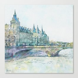 La Seine 4 by Jennifer Berdy Canvas Print