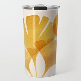 Abstraction_SUN_Ginkgo_Minimalism_001 Travel Mug