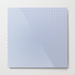 Abstract chevron pattern in serenity blue Metal Print