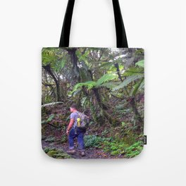 Jose hiking up El Yunque trails -  El Yunque rainforest in PR Tote Bag