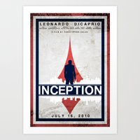 inception Art Prints featuring Inception by Anton Lundin