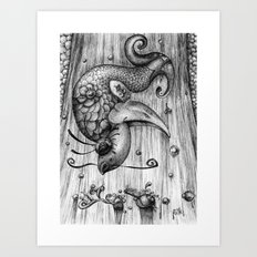 Fish Fall Art Print