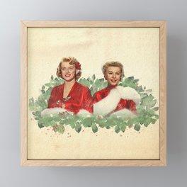 Sisters - A Merry White Christmas Framed Mini Art Print