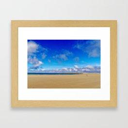 The long Golden Strand in Dugort on Achill Island Framed Art Print