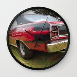1971 Brazilian Made Only Charger RT Muscle Car Wall Clock
