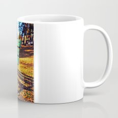 Autumn park bench Mug