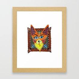 Doodle fox \ cat Framed Art Print