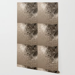 Sparkling Sepia Lady Glitter #1 #shiny #decor #art #society6 Wallpaper