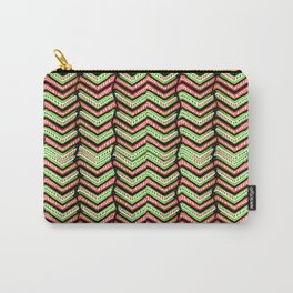 Zig Zag Multicolored Ethnic Pattern Carry-All Pouch