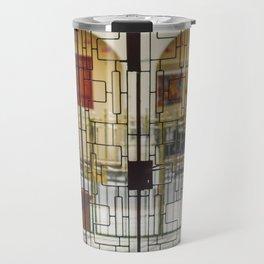 Metal door pattern Travel Mug