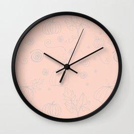 Autumn - My sweet pink halloween Wall Clock