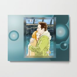 Mulder and Scully my struggle (the end) Metal Print