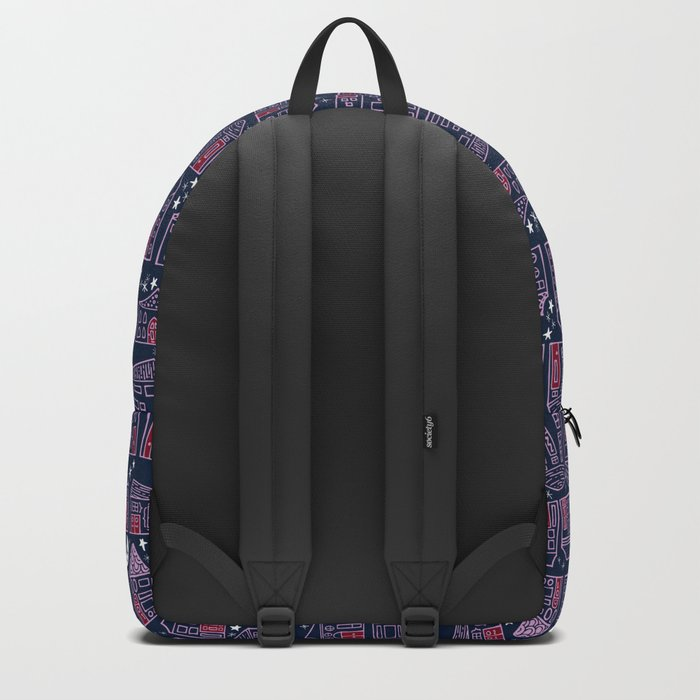 Starry Night in the City - Orchid & Navy Backpack