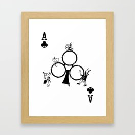 Sawdust Deck: The Ace of Clubs Framed Art Print
