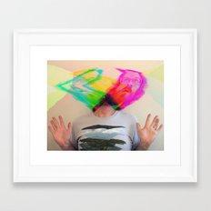 my mind is blown Framed Art Print