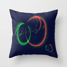 Feather Rings Throw Pillow
