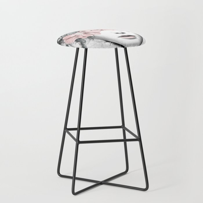 WOMAN WITH FLOWERS 10 Bar Stool