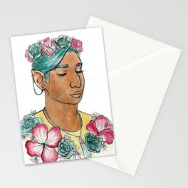 Imogen flower crown Stationery Cards