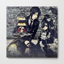 dress up and snacks with ciel and bassy Metal Print