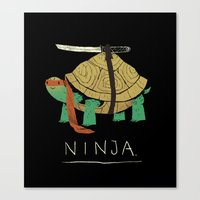 ninja turtles Canvas Prints featuring ninja by Louis Roskosch