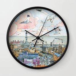 Genova e la Lanterna Wall Clock